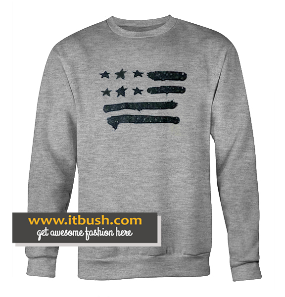 Black American Flag sweatshirt
