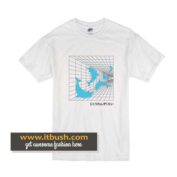 Vaporwave Dolphin T-Shirt