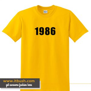 1986 Yellow T shirt