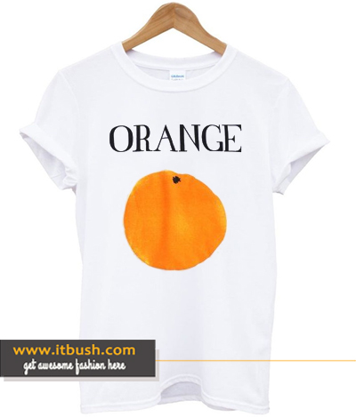 Orange Print T-Shirt ds