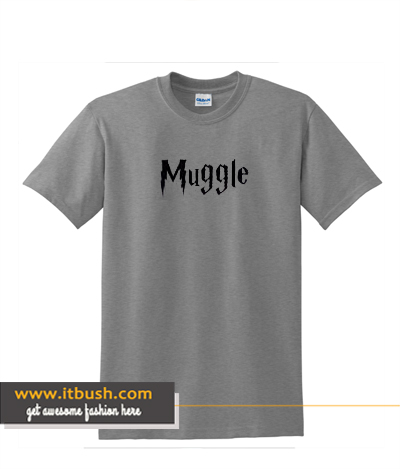 Youth T-Shirt Muggle Harry Potter Wizard Magic Small Charcoal ds