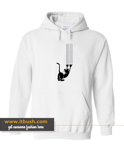 Cat stretching Hoodie ds