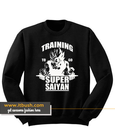 Training To Go Super Saiyan Sweatshirt-ul
