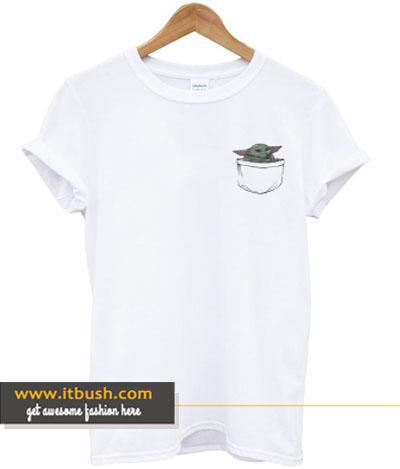 baby yoda pocket t-shirt-ul