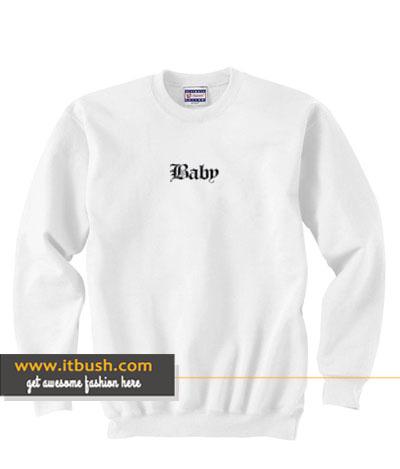 baby letter sweatshirt-ul