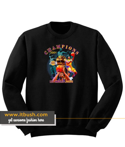 champiaons 2001 los angeles lakers sweatshirt-ul