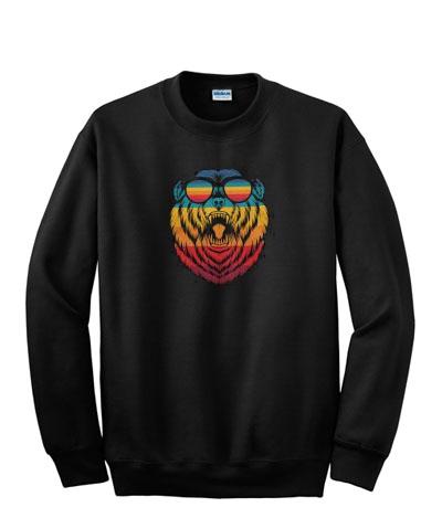 retro bear sweatshirt-ul